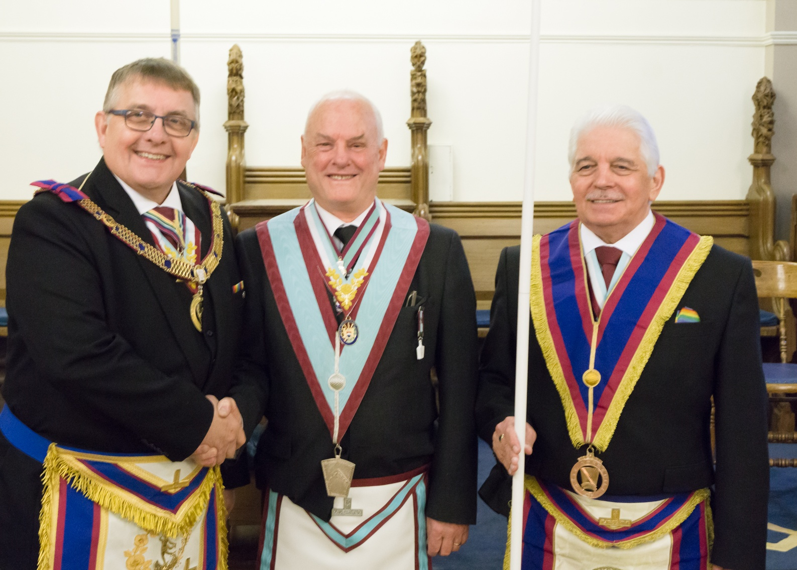 An interloper at Beaumont Lodge of MMM No.1523, Installation 4th April 2019