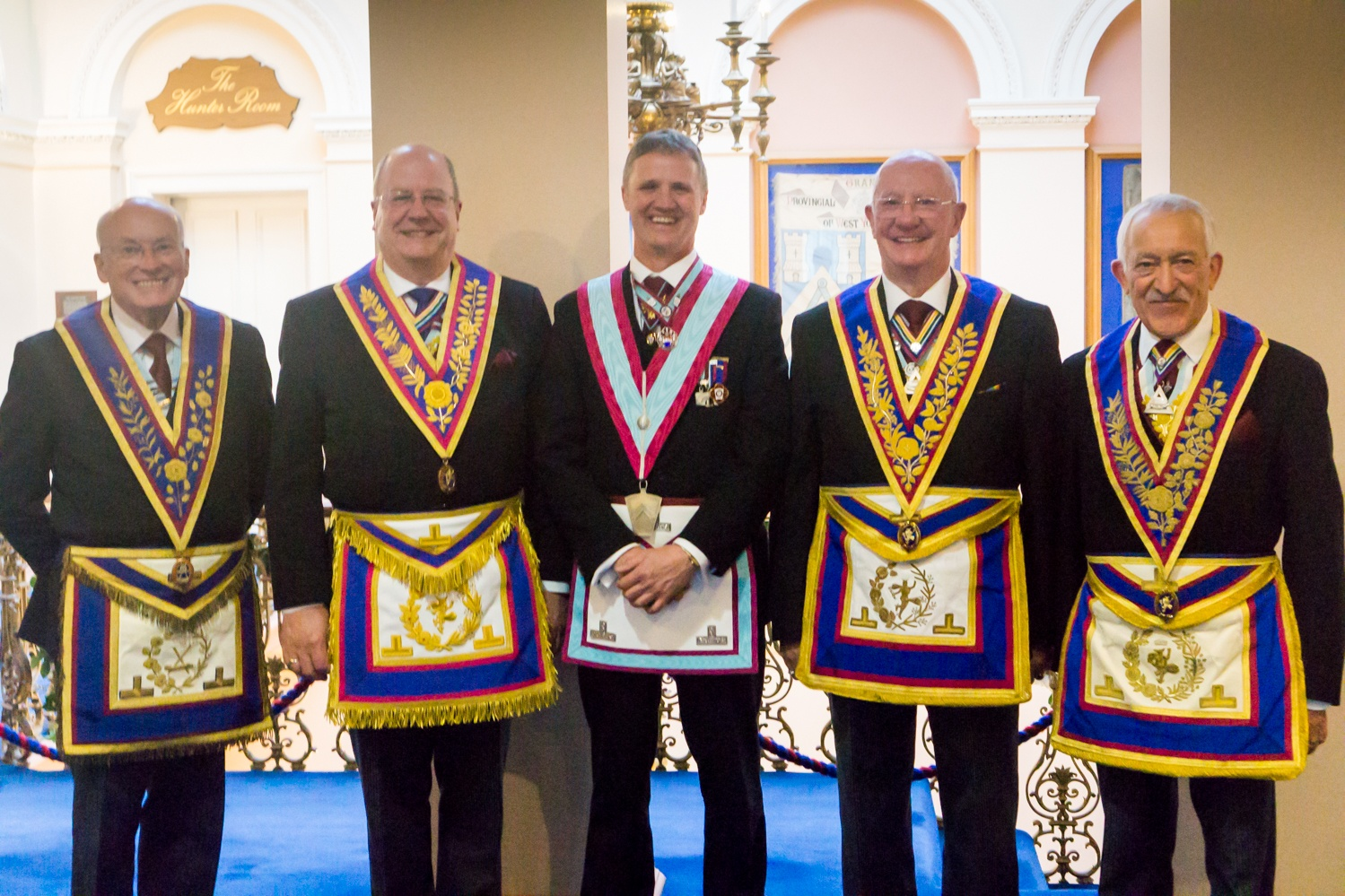 No Hiding place for W.Bro.Steven, he is now firmly up front at Cleeves Lodge of M.M.M. No.618