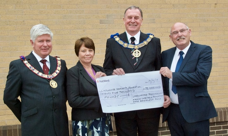 £75,000 FROM LINCOLNSHIRE FREEMASONS GIVES RELIEF TO FLOOD VICTIMS