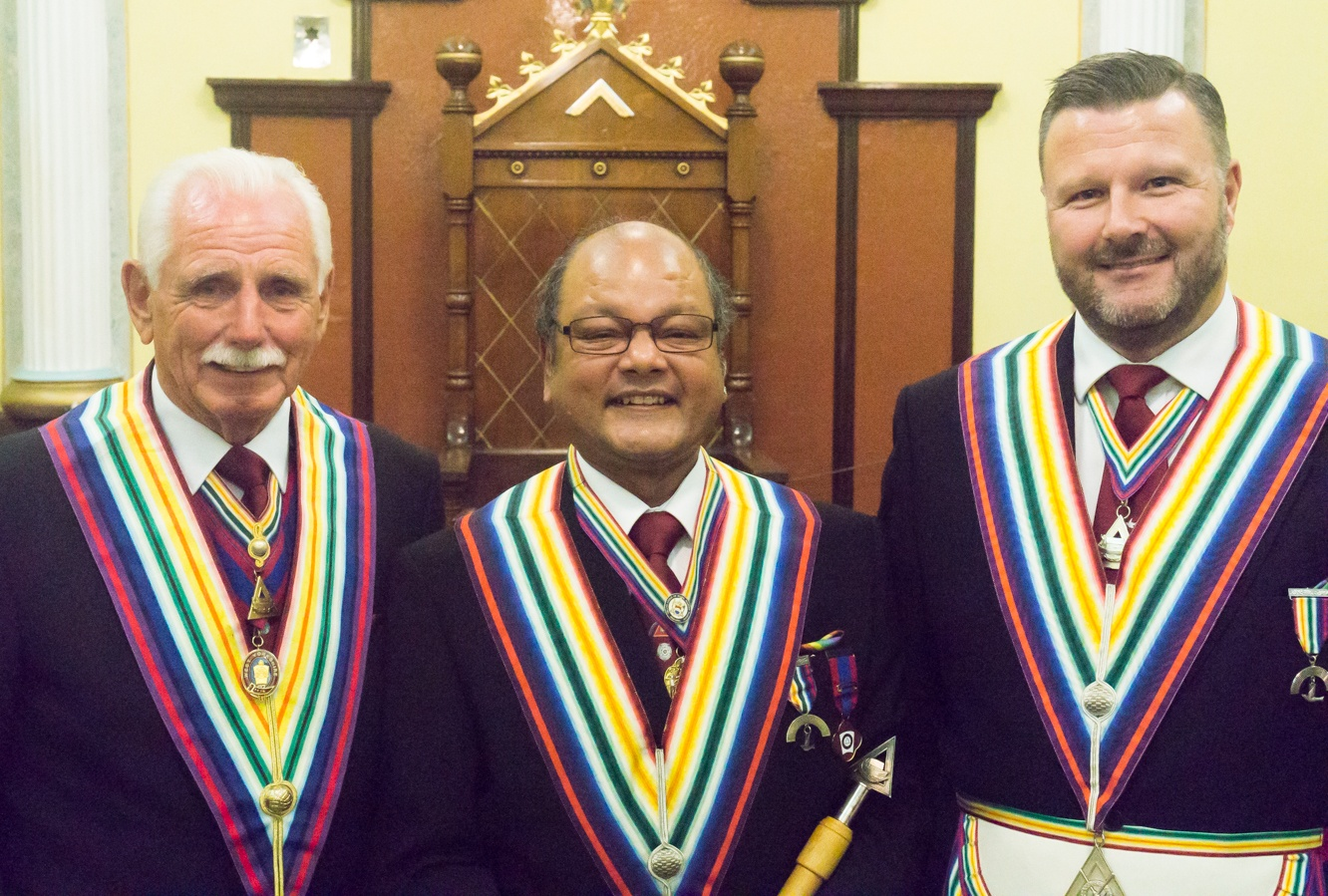 A new name in the frame at the Installation at Dewsbury Lodge of RAM No.641.