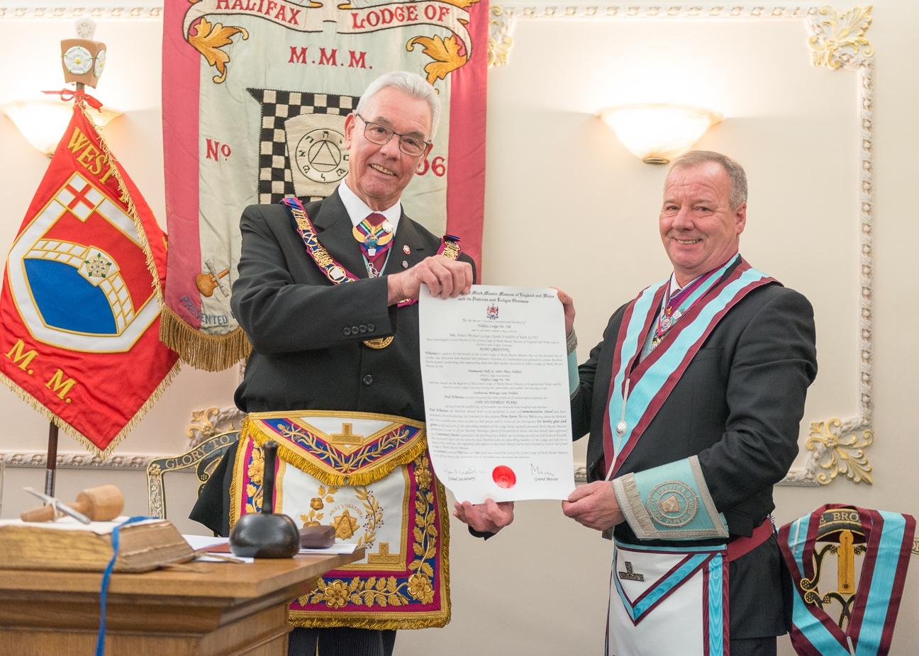 Centenary Meeting of the Halifax Lodge of Mark Master Masons No. 706.
