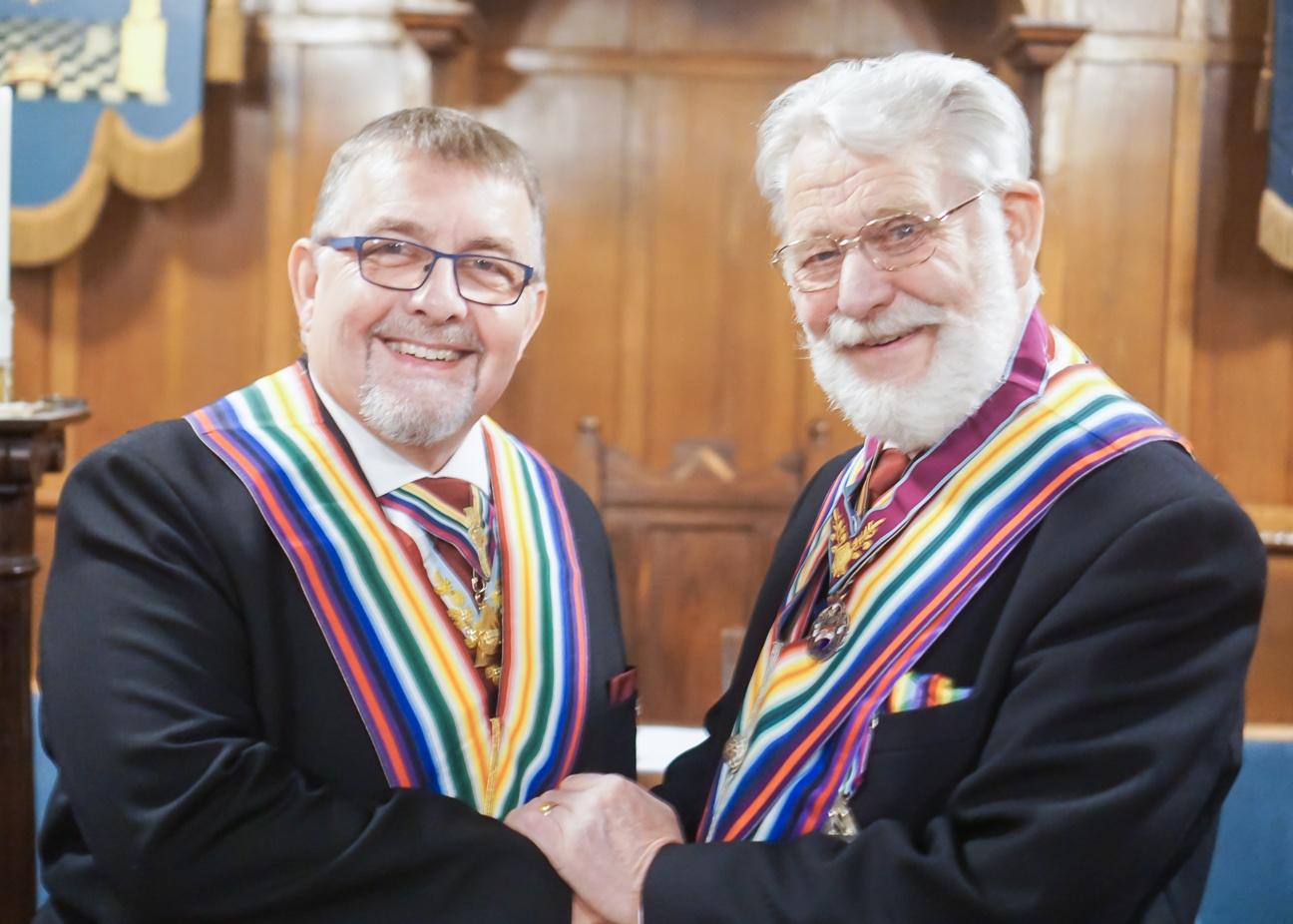 W.Bro. Brian Harrison returns home to Abbey Lodge of RAM. No.768. Friday, 29th Nov. 2019