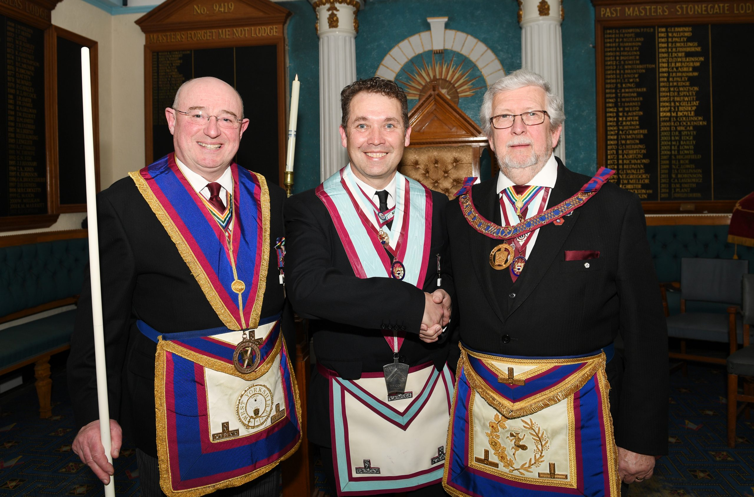 Youth to the fore at Thorne Lodge of MMM No. 1004 Installation 5th March 2020.