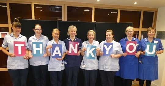 A letter of thanks from the Prince of Wales Hospice